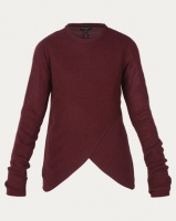 Brave Soul Jumper With Curved Asymmetric Hemline Mulberry Photo