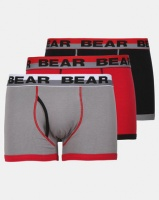 Bear 3 Pack Red Contrast Coverseam Bodyshorts Photo