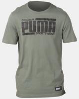 Puma Sportstyle Core Athletics Tee Green Photo