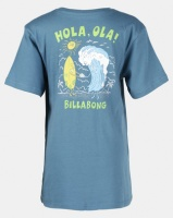 Billabong Hola Ola Short Sleeve Tee Blue Photo