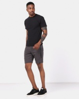 Dissident Akah Knitted Jog Shorts Charcoal Photo