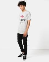 Lee Cooper M Owen Logo T-Shirt Grey Melange Photo