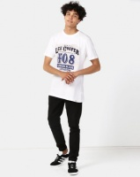 Lee Cooper M Jaxon Logo T-Shirt White Photo