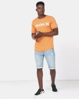 Hurley One & Only Short Sleeve Solid T-Shirt Rust Photo