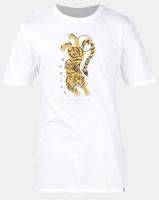 Hurley Premium Tiger Short Sleeve T-Shirt White Photo