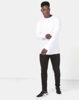 New Look Long Sleeve Oversized Cuff Tee White Photo