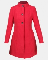 Assuili Long Coat with Buttons Rouge Photo