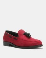 PC Tassel Moccasin Shoes Burgundy Bear Photo