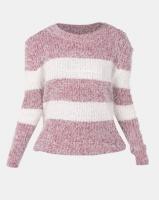 Revenge Striped Fluffy Jersey Pink Photo