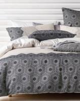 Linen House Jourdan Duvet Cover Set Neutral Photo