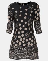 Revenge Dot & Floral Dress Black Photo
