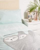 New Look Snuggle Sloth Single Bedding Green Photo