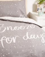 New Look Snooze Single Bedding Grey Photo