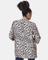 Liquorish Animal Print Blazer Multi Photo