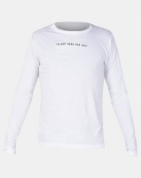 Night Addict Long Sleeve T-Shirt With Chest Embroidery White Photo