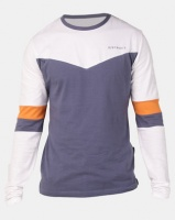 D-Struct Cut And Sew Long Sleeve T-Shirt Blue Photo