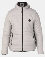 D Struct D-Struct Hooded Quilted Jacket Steel Grey Photo