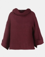 Brave Soul Cowl Neck Jumper Mulberry Photo
