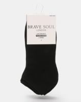 Brave Soul Lolo 3 Pack Plain Trainer Socks Black Photo