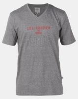 Lee Cooper M Ethan Logo T-Shirt Charcoal Grindle Photo
