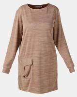 Utopia Plus Camel Cut n Sew Dress With Pocket Photo