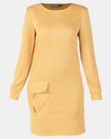 Utopia Cut n Sew Dress With Pockets Mustard Photo
