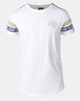 Crosshatch Chivan Taped Sleeve T-Shirt White Photo