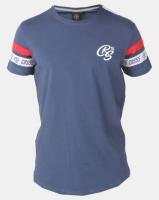 Crosshatch Chivan Taped Sleeve T-Shirt Navy Photo