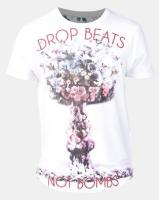 Ringspun Atomics Printed Scoop T-Shirt White Photo