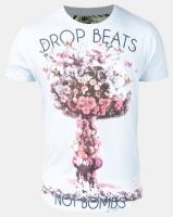 Ringspun Atomics Printed Scoop T-Shirt Sky Blue Photo