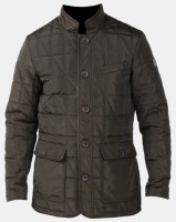 Jonathan D Copper Quilted Padded Jacket Dark Olive Photo