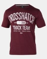 Crosshatch Crossgrove Track Team T-Shirt Deep Red Photo