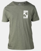 Crosshatch Olavo Slub T-Shirt Beetle Green Photo