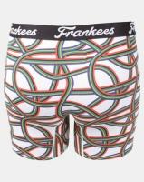 Frankees SA Lines Printed Long Leg Trunks White Photo