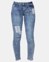 Legit Patch Skinny Jeans Blue Photo