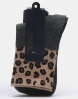 Joy Collectables 5 Pack Leopard Border Socks Multi Photo