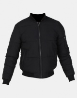 New Look Puffer Bomber Jacket Black Photo