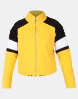 New Look Colour Block Fleece Jacket Dark Yellow Photo