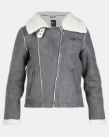 All About Eve Navigator Shearling Jacket Charcoal Photo