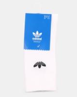 adidas Originals Mens Thin Trefoil Crew Socks White Photo