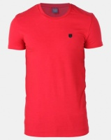 Soviet M Brisbane Short Sleeve Stretch Fitted T-Shirt Red Photo