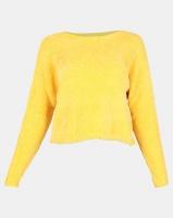 Legit Chenille Boxy Pullover Mustard Photo