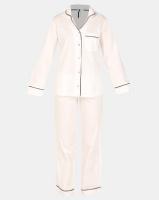 Lila Rose Classic Long Cotton PJ Set White Photo