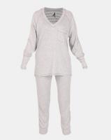 Lila Rose Knitted Tracksuit Set GreyMilk Photo