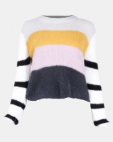 All About Eve Rare Find Knit Crew Top Multi Photo