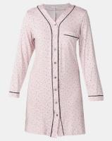 Poppy Divine Classic V-neck Print Sleepshirt Blush Photo