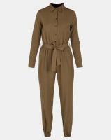 London Hub Fashion Jogger Boiler Suit Khaki Photo