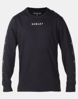 Hurley PRM Burn Baby L/slv T-shirt Black Photo