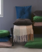 Present Time Cushion Luxurious Velvet XL Green Photo