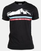 Utopia Alps Printed T-Shirt Black Photo